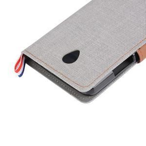 Jeans peňaženkové puzdro na Lenovo A5000 - šedé - 7