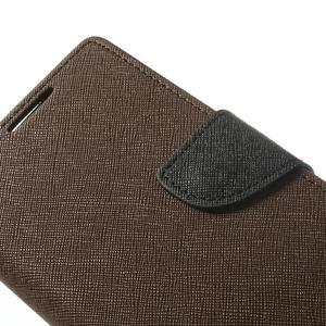 Fancy peněženkové pouzdro na Sony Xperia Z2 - hnědé - 7