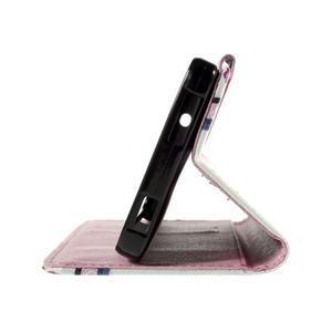 Cross peňaženkové puzdro na Xiaomi Mi4 - fialové květy - 7
