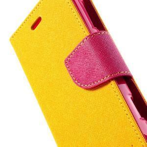 Mr. Fancy peňaženkové puzdro pre Sony Xperia L - žlté - 7