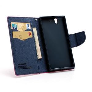 Mr. Goos peňaženkové puzdro pre Sony Xperia Z - rose - 7