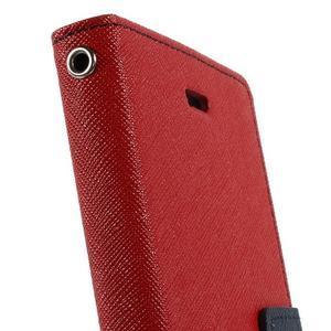 Mr. Goos peňaženkové puzdro na Sony Xperia M2 - červené - 7