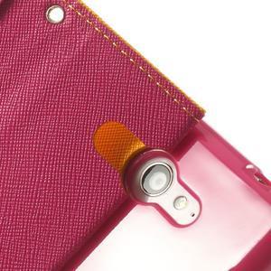Mr. Goos peňaženkové puzdro pre Sony Xperia M2 - žlté - 7