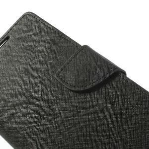 Fancy peněženkové pouzdro na Sony Xperia Z2 - černé - 7