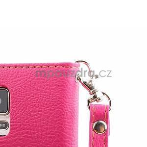 Peňaženkové puzdro s pútkom na Samsung Galaxy Note 4 - rose - 7