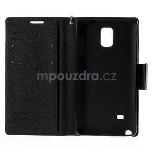 Stylové peňaženkové puzdro na Samsnug Galaxy Note 4 - čierne - 7