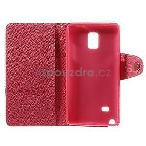 Zapínací peneženkové poudzro Samsung Galaxy Note 4 -rose - 7