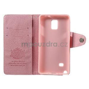 Zapínací peneženkové poudzro Samsung Galaxy Note 4 - ružové - 7