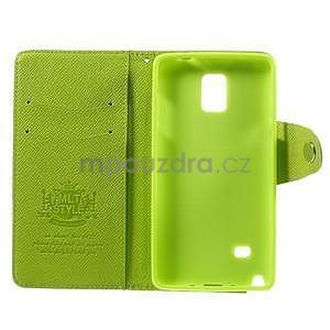 Zapínací peneženkové poudzro Samsung Galaxy Note 4 - zelené - 7