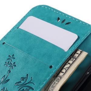 Buttefly PU kožené puzdro pre Samsung Galaxy A3 (2016) - modré - 7