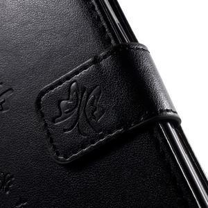 Butterfly PU kožené puzdro pre Samsung Galaxy Core Prime - čierne - 7