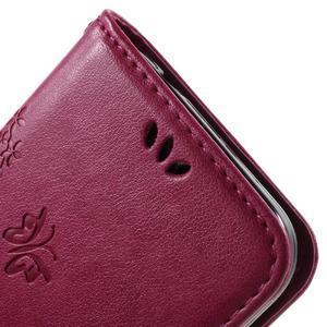 Butterfly PU kožené puzdro pre Samsung Galaxy Core Prime - rose - 7