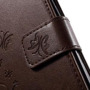 Butterfly PU kožené puzdro pre Samsung Galaxy Core Prime - coffee - 7