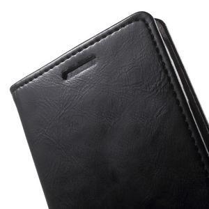 Moon PU kožené puzdro pre mobil Samsung Galaxy Core Prime - čierne - 7