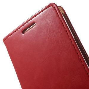 Moon PU kožené pouzdro na mobil Samsung Galaxy Core Prime - červené - 7