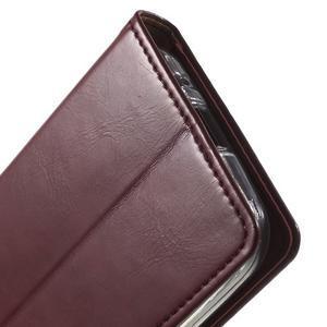 Moon PU kožené puzdro pre mobil Samsung Galaxy Core Prime - vínové - 7