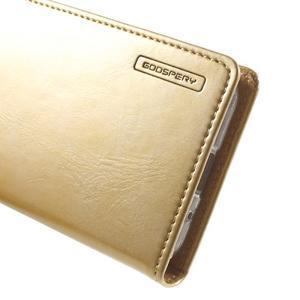 Moon PU kožené puzdro pre mobil Samsung Galaxy Core Prime - zlaté - 7