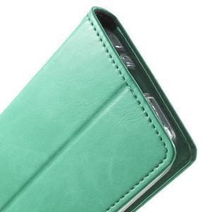 Moon PU kožené pouzdro na mobil Samsung Galaxy Core Prime - azurové - 7