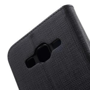 Clothy peněženkové pouzdro na Samsung Galaxy Core Prime - černé - 7