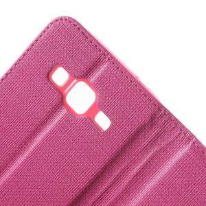Clothy peněženkové pouzdro na Samsung Galaxy Core Prime - rose - 7