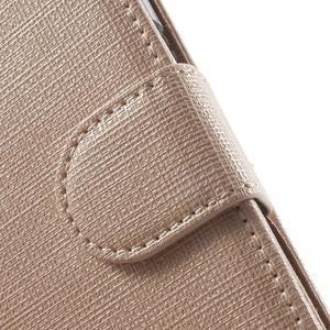 Clothy peňaženkové puzdro pre Samsung Galaxy Core Prime - champagne - 7