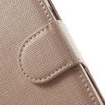 Clothy peňaženkové puzdro pre Samsung Galaxy Core Prime - champagne - 7/7