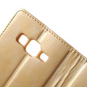 Moonleather PU kožené puzdro pre Samsung Galaxy Core Prime - zlaté - 7