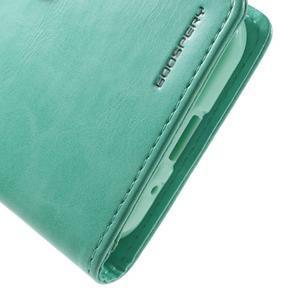 Moonleather PU kožené puzdro pre Samsung Galaxy Core Prime - azúrové - 7