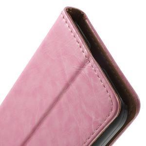 Horse PU kožené puzdro pre mobil Samsung Galaxy Core Prime - ružové - 7