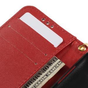 Croco peněženkové pouzdro na Samsung Galaxy Core Prime - červené - 7