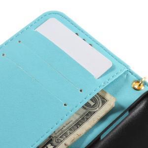 Croco peňaženkové puzdro pre Samsung Galaxy Core Prime - modré - 7