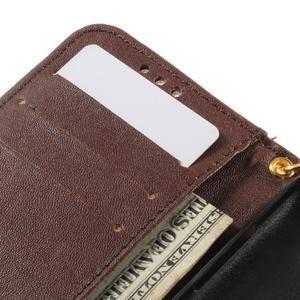 Croco peňaženkové puzdro pre Samsung Galaxy Core Prime - coffee - 7