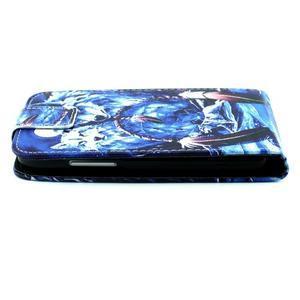 Flipové puzdro pre mobil Samsung Galaxy Core Prime - magický vlci - 7