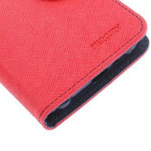 Diary PU kožené pouzdro na Samsung Galaxy J1 (2016) - červené - 7