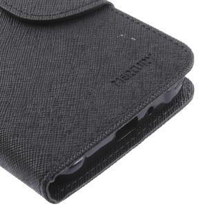 Diary PU kožené pouzdro na Samsung Galaxy J1 (2016) - černé - 7