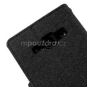 Čierné kožené puzdro pre Samsung Galaxy J1 - 7