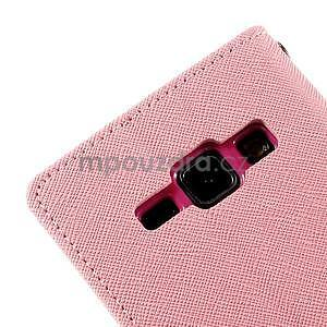 Ružové/rose kožené puzdro pre Samsung Galaxy J1 - 7