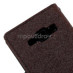 hnedé/čierné kožené puzdro na Samsung Galaxy J1 - 7