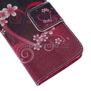 Zapínací puzdro pre Samsung Galaxy J1 - květinové srdce - 7