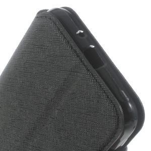 Roar PU kožené puzdro s okienkom pre Samsung Galaxy J3 (2016) - čierne - 7