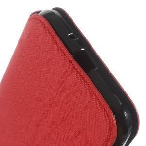 Roar PU kožené puzdro s okienkom pre Samsung Galaxy J3 (2016) - červené - 7