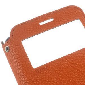 Roar PU kožené puzdro s okienkom pre Samsung Galaxy J3 (2016) - oranžové - 7