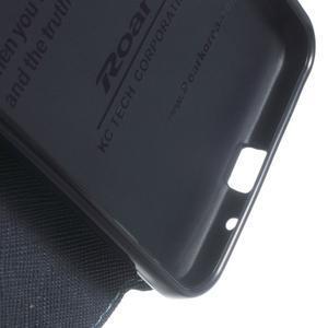 Roar PU kožené puzdro s okienkom pre Samsung Galaxy J3 (2016) - svetlomodré - 7