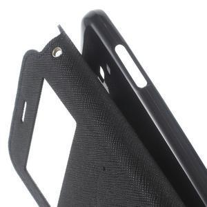 Roar PU kožené puzdro s okienkom pre Samsung Galaxy J3 (2016) - tmavomodré - 7