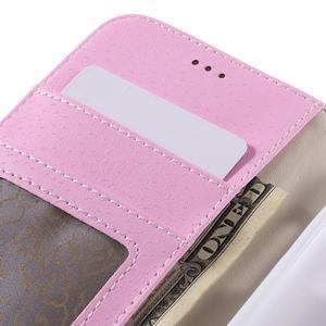 High PU kožené pouzdro na mobil Samsung Galaxy J3 (2016) - růžové - 7