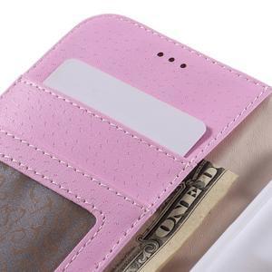 High PU kožené puzdro pre mobil Samsung Galaxy J3 (2016) - fialové - 7