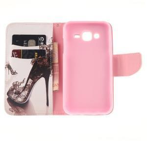 Standy peňaženkové puzdro pre Samsung Galaxy J5 - pekelná topánka - 7