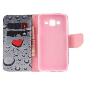 Standy peňaženkové puzdro pre Samsung Galaxy J5 - srdca - 7