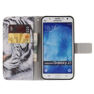 Standy peněženkové pouzdro na Samsung Galaxy J5 - tygr - 7
