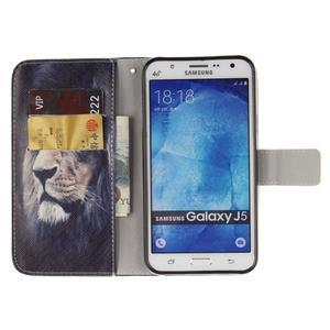 Standy peněženkové pouzdro na Samsung Galaxy J5 - lev - 7